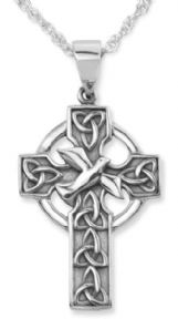 Iona Abbey Silver Cross Pendant 9351